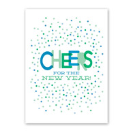 Cheers Dots Happy New Year Card