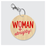Woman Almighty Keychain
