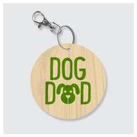 Dog Dad Keychain