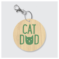 Cat Dad Keychain