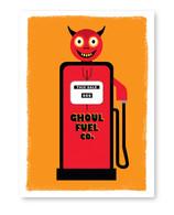 Ghoul Fuel Halloween Card