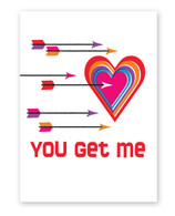 Heart Target Valentine's Day Card