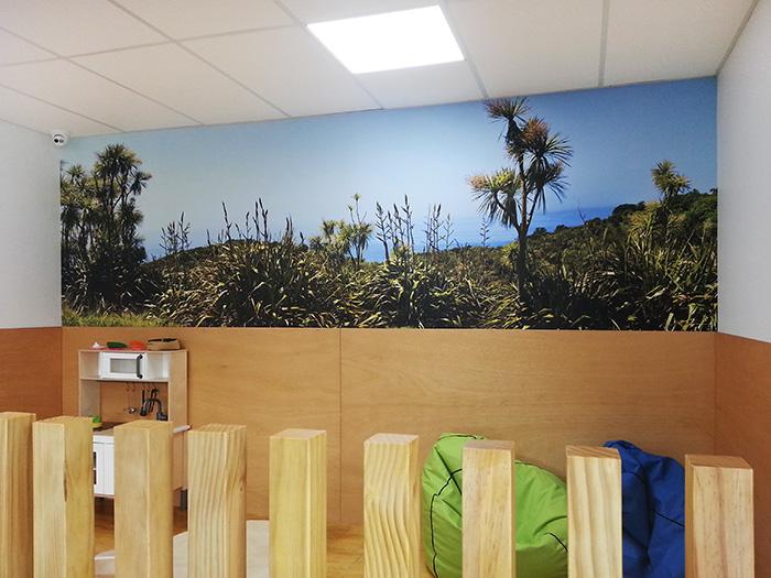 New Zealand landscape panorama printed photo vinyl wallpaper mural