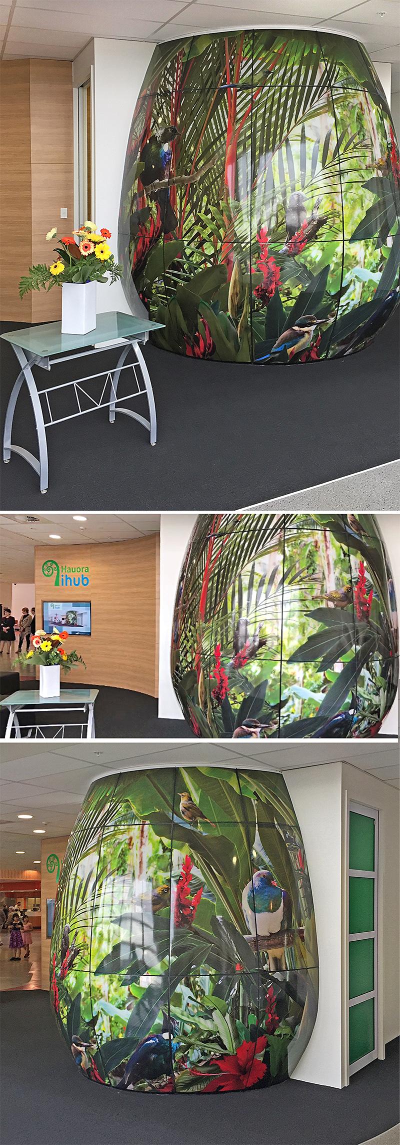 waikato-dhb-nz-birds-and-tropical-plants-acrylic-pod-wall-mural-artist.jpg