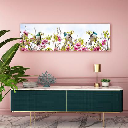 Kereru in Magnolia wall art canvas