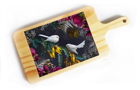 White Fantail & Kowhai cheeseboard
