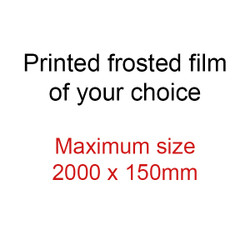 SIZE 1 - ** SPECIAL** Frosted door sidelight art film - max size 2000x150mm