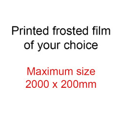 SIZE 2 - ** SPECIAL** Frosted door sidelight art film - max size 2000x200mm