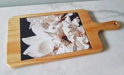 White Peony NZ art cheeseboard