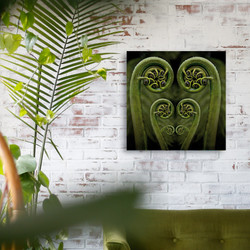 Fern frond / koru glass wall art