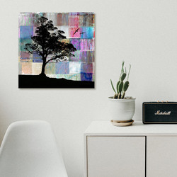 **SPECIAL**  $100 OFF - 'PATCHWORK HORIZONS' - 50x50cm abstract NZ printed glass wall art