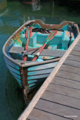 Old fishing dinghy , New Zealand photo art print for sale by Lucy G.