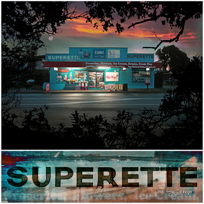 Kapai Superette' - old New Zealand superette photograph, Kiwiana NZ art print for sale by Lucy G.