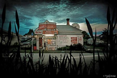 Kia Ora Superette' - old New Zealand superertte photograph, Kiwiana NZ art print for sale by Lucy G.