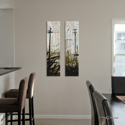 NZ powerlines artwork, canvas art print for sale by Lucy G.