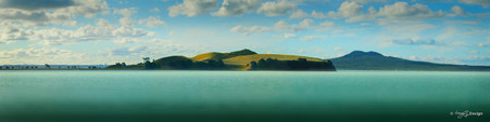 Brown's Island landscape photograph from Auckland, NZ - print for sale.