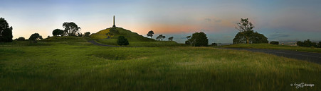 One Tree Hill Sunset,Cornwall Park, Auckland, NZ - landscape photo print for sale by Lucy G.