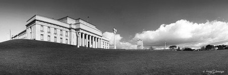 Auckland Museum building, The Domain, New Zealand - landscape photo print for sale.