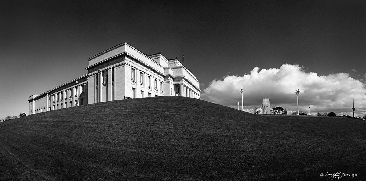 Auckland museum building the domain new zealand landscape photo print for sale