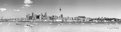 Auckland City landscape, New Zealand cityscape showing the city skyline -landscape print for sale.