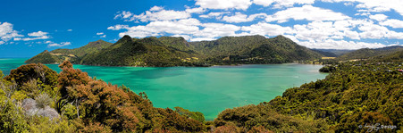 Huia, Manukau Harbour, Waitakere Ranges, Auckland, NZ - landscape photography print for sale by Lucy G.