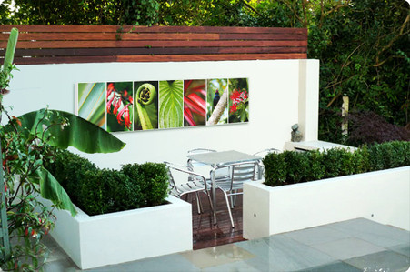 NZ Nature collage -outdoor wall art / outdoor artwork for sale by Lucy G.