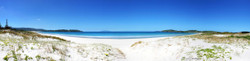 Omaha Beach, Rodney District, Northland, NZ showing sand dunes and sea - landscape photo print for sale