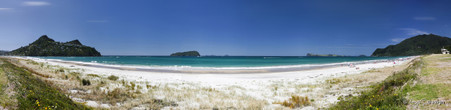 Pauanui, Coromandel, NZ, showing Shoe Island, Tairua Peninsula & Slipper Island - photo print for sale