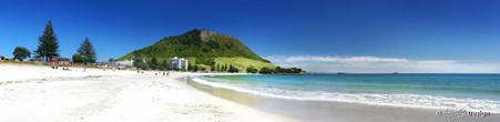 Mount Maunganui, Tauranga, NZ showing beach and sand - landscape photo print for sale.