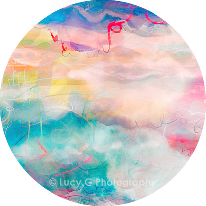 ROUND WALL DECAL - 'Technicolour Dreams 1'