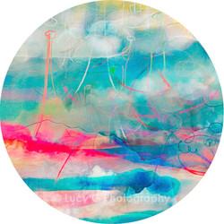 ROUND WALL DECAL - 'Technicolour Dreams 2'