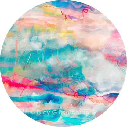 ROUND WALL DECAL - 'Technicolour Dreams 3'