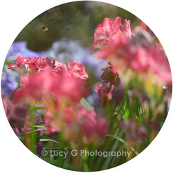 Round wall decal - 'Spring Blooms 2'