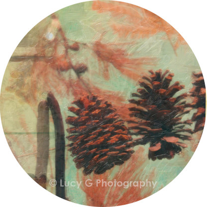Round wall decal - 'Shades of Autumn'