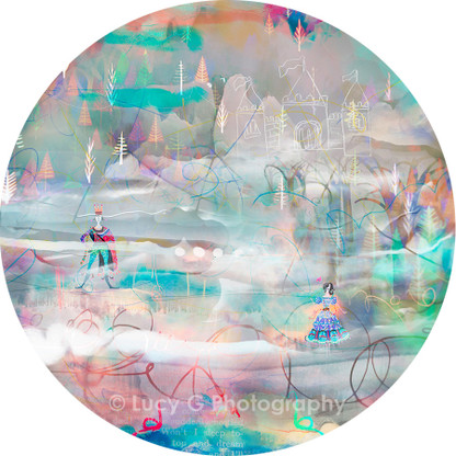 ROUND WALL DECAL - 'Wonderland A'
