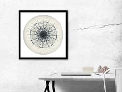 Aotearoa Mandela - circular NZ art print, in black frame
