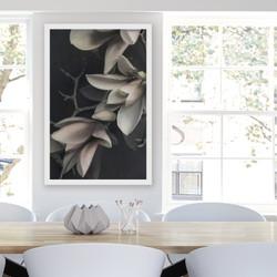 ''MAGNOLIA 3'' XL white box framed photo art flower print