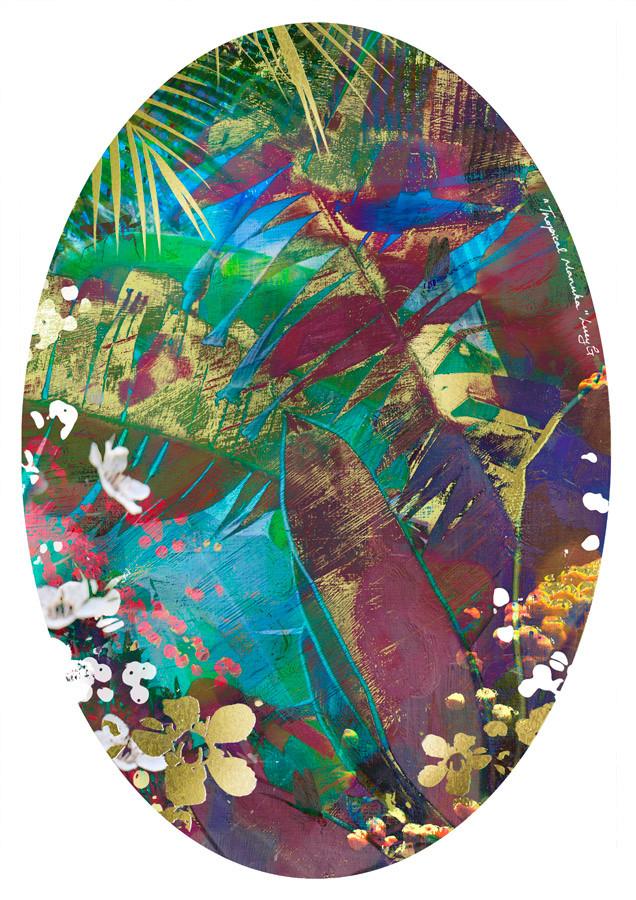 e7bc0a0a8b95 SPECIAL      TROPICAL MANUKA   - Gold leaf NZ art print