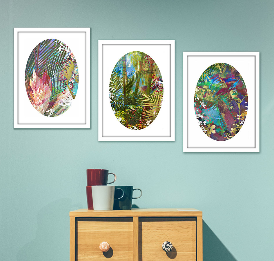 ad8c272480aa SPECIAL - SET OF 3 GOLD LEAF PRINTS FRAMED - SPECIAL (rrp 750 ...
