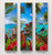 SET OF 3 - VERTICAL - NZ BIRD & LANDSCAPE CANVAS WALL ART PRINTS