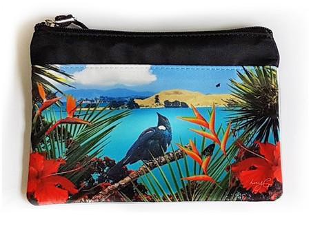 'Tui's Temple' NZ art purse
