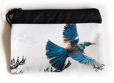 'NZ Flying Tui'' art purse