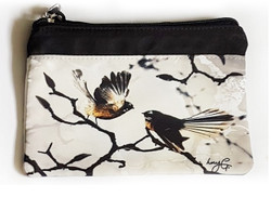 ''Fantail Family'' NZ art purse