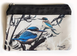 ''Kingfisher Reef'' NZ art purse