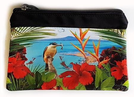 ''Kingfisher Reef'' NZ art purse