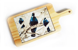 'Tui Song' NZ art cheeseboard / breadboard