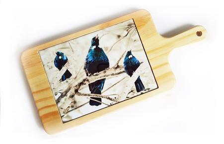 'Tui Song' NZ art cheeseboard / breadboard