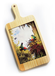 "'""Birds of a Feather'' Kereru NZ art cheeseboard / breadboard"