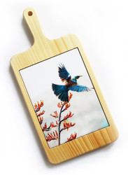 ''Flying NZ Tui'' NZ art cheeseboard / breadboard