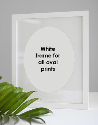 White frame for all oval prints